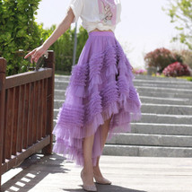 High-low Layered Tulle Skirt Outfit Plus Size Wedding Outfit Tiered Tulle Skirt image 12