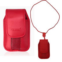 Around the neck Red hanging case and lanyard fits LG 236c - $19.79