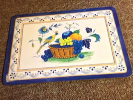 4 French Country Blue Jason Valencia Bird Flowers Fruit Basket with box - $24.75