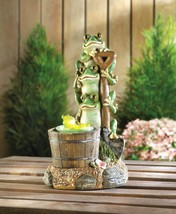 Solar rotating frog garden decor2 thumb200