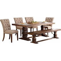 Nuremberg Rustic Country 5 Piece Solid Dining Table & 4 Chairs in Vintag... - $1,830.19