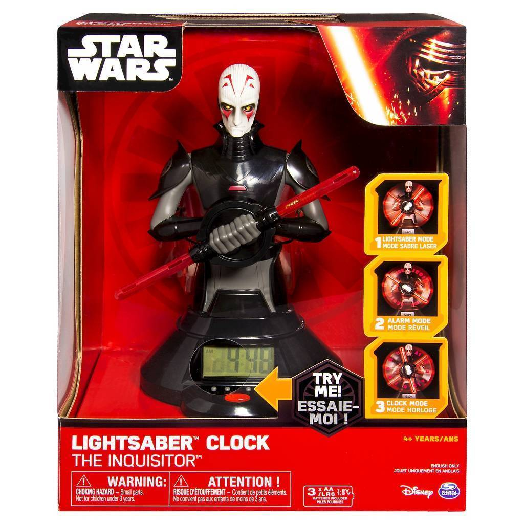 STAR WARS THE INQUISITOR LIGHTSABER CLOCK Unisex Collectible