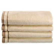 Creative Scents Cotton Velour Fingertip Towel, 4 Piece Set, 11 by 18-Inc... - $21.15