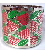 Strawberries Candle Sleeve Holder Bath Body Works Holds a 3 wick 14.5 oz  - $19.99