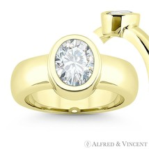 Forever ONE D-E-F Oval Cut Moissanite 14k Yellow Gold Solitaire Engagement Ring - €615,01 EUR - €3.589,14 EUR