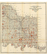 1900 Map of Chickasaw Nation Indian territory American Indian Art Poster... - $12.38