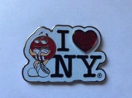 M&M's World I Love New York Red Glitter Metal Magnet New - $13.09