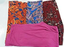 Pack Of 4 Tall & Curvy Lularoe Leggings Size TC Varying Colors - $38.41