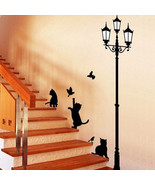 Popular Ancient Lamp Cats and Birds Wall Sticker Wall Mural Home Decor R... - $4.60