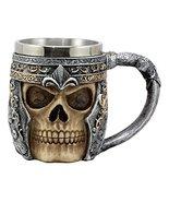 Ebros Royal Fleur De Lis Centurion Helmet Skull Coffee Mug 11oz Beer Ste... - $19.79