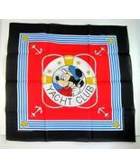 Vintage 1990's Disney Mickey Mouse Yacht Club Bandana Scarf  by Woronowi... - $11.99