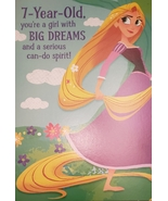 Disney Tangled Greeting Card Birthday for a 7 Year-Old - $3.89