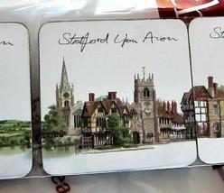 4pc Coaster Set by Artist Matthew Cook Stratford Upon Avon UK Tempe Isla... - $24.74