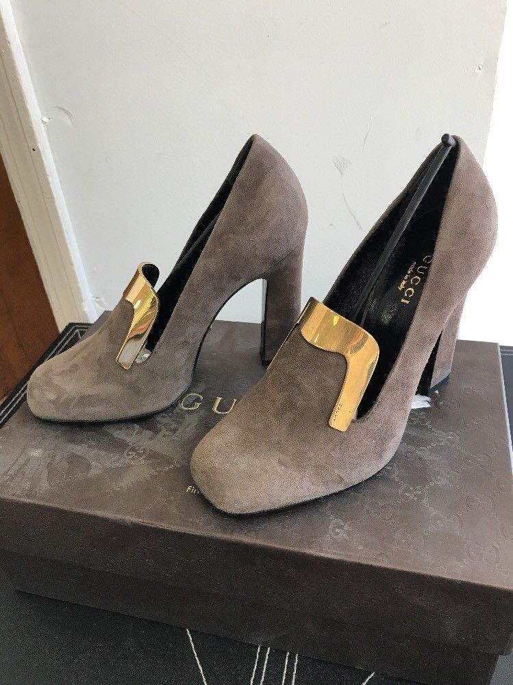 2df97ba7ad9 New AUTH Gucci Grey Field Pumps EU SZ 38  795 and 20 similar items