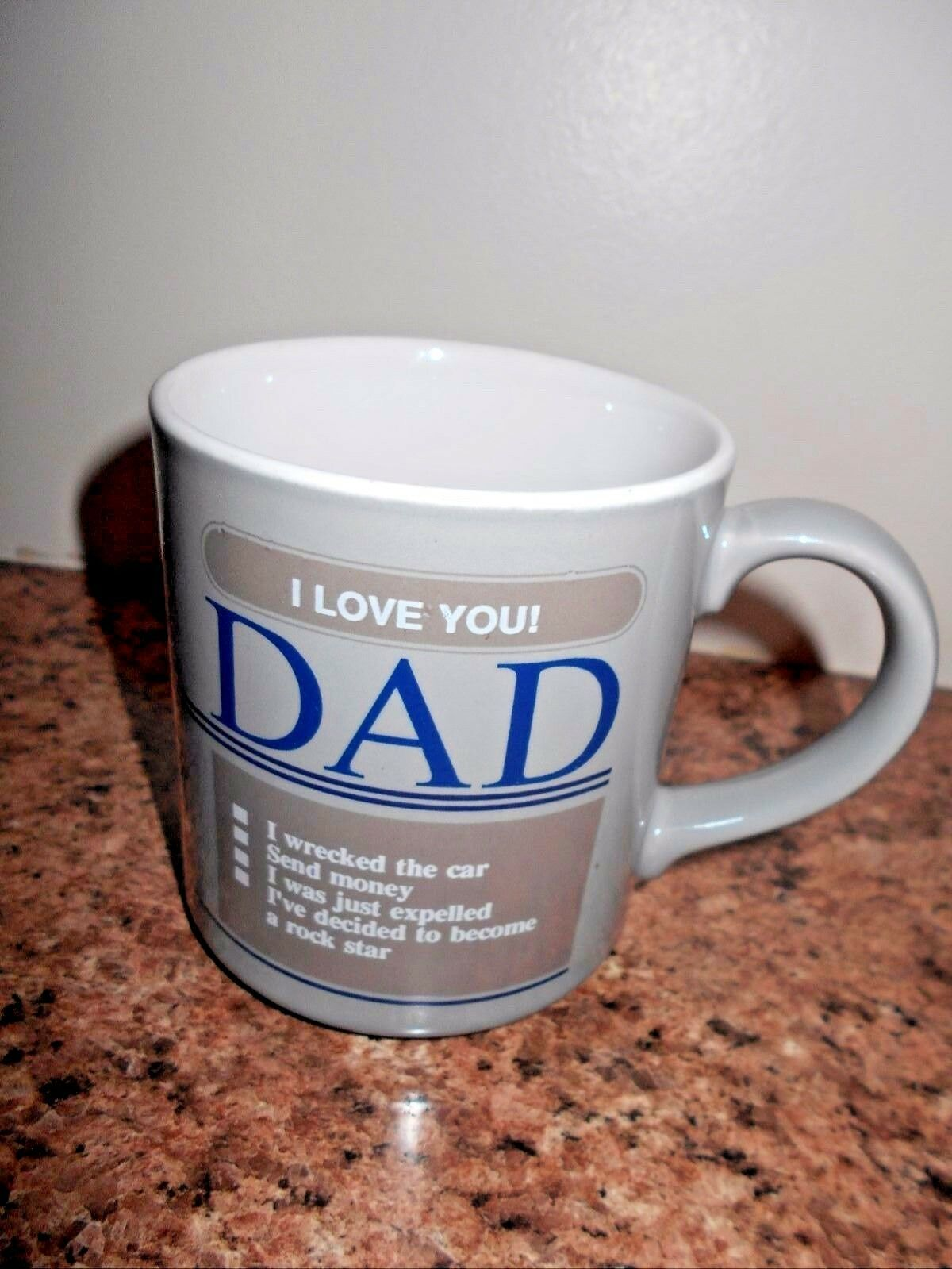 Primary image for I Love You Dad Cup Mug Coffee Tea Gray