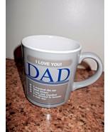 I Love You Dad Cup Mug Coffee Tea Gray - $11.30