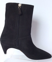 New Prada Comma Black Mid Calf Boots - Msrp $890.00! - $341.95