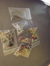 Straight Pins with Colorful Heads Sewing Pins Bulk Lot  - £6.98 GBP