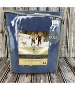 """Woolrich Full Size Indigo Blue Cotton Flannel Sheet Set 16"""" Deep Pockets... - $49.49"""