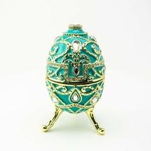 Faberge Egg Trinket Box & music Handmade by Keren Kopal Austrian  Crystals - $109.80