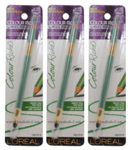 (3-PACK) L'OREAL Paris Colour Riche Wood Pencil Eyeliner, Sea Green 940 - $22.99