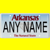 1/43-1/5 scale custom license plate set any brand RC/model car - Arkansa... - $11.00