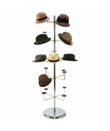 Hat Millinery Round Stand Retail Store Floor Display Rack 5 Levels 20 Caps  - $148.40