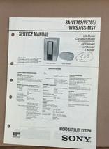 Sony  SA-VE702 VE705 WMS7 SS-MS7   Service Manual *Original* - $13.97