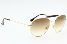 RAY-BAN Rb 3540 001/51 Gold Gradient Authentic Frame Sunglasses 56-18 - $107.53