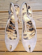 Sam Edelman Size 7.5 Novato Gray Stiletto Platform Heels Suede Leather P... - $32.29
