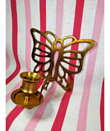 Awesome Mid Century Brass Butterfly Wall Mount 3D Candle Holder Sconce - $14.00