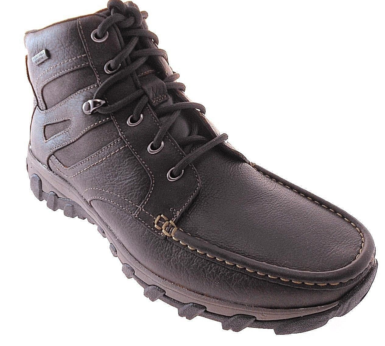 ROCKPORT COLD SPRING PLUS MOC HIGH MEN'S BROWN BOOTS SZ 9.5 W(WIDE), A12209