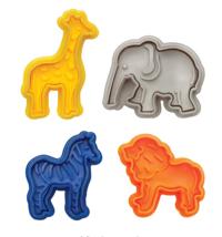 JUNGLE ANIMALS SAFARI COOKIE CUTTER ZEBRA LION GIRAFFE ELEPHANT MOLD PAR... - $8.90