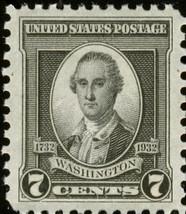 1932 7c George Washington, Trumbull, Black Scott 712 Mint F/VF NH - $1.88