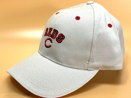 "Cincinnati Reds Vintage MLB Cream ""Block Reds"" Cap (New) By Drew Pearson - $19.99"