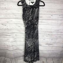 Lauren Ralph Lauren Printed Jersey Fit Flare Dress BLACK 12 MSRP $105 - $82.28