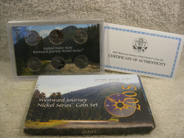 2005 westward Journey Nickle Series Coin Set 6 Coins Proof Mint New in Box - $12.37