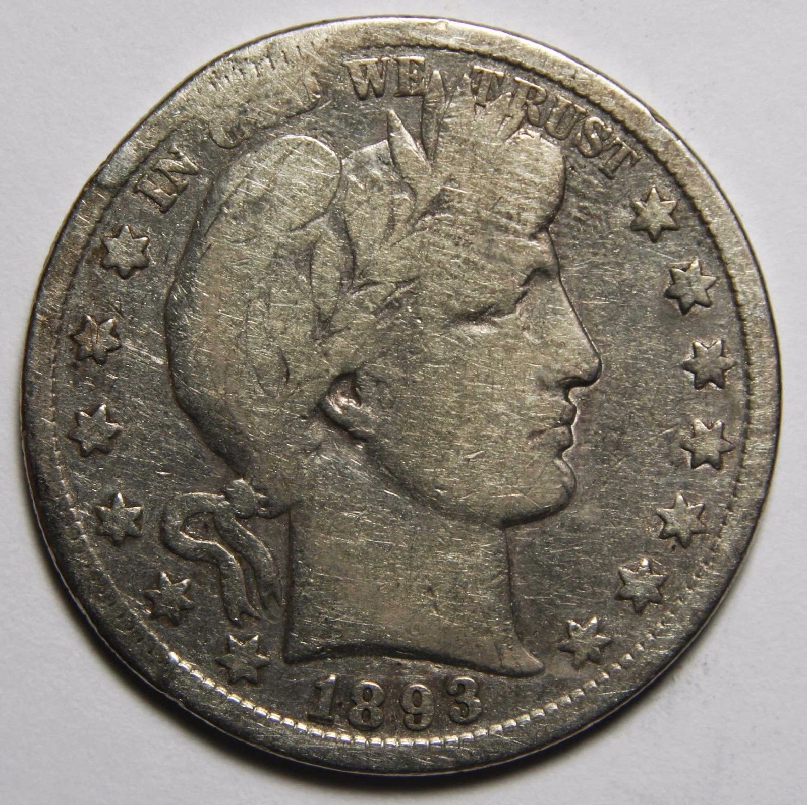 1893S Liberty Barber Head Half Dollar 50¢ Silver Coin Lot A 2262