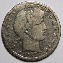 1893S Liberty Barber Head Half Dollar 50¢ Silver Coin Lot A 2262