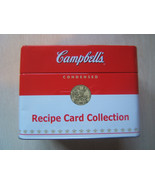 Campbell's Soup Metal Recipe Card Collection Storage Tin w/ Recipes, Blanks - $11.52