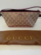 Auth Gucci Hand Bag Brown OLD Gucci Vintage GG Logo Total Handle Zipper ... - $125.63
