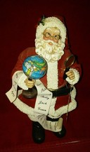 Clothtique Possible Dreams 1994 Santa and his global list / magnifying ... - $39.99