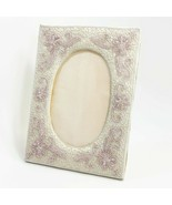 Embroidery Decorative Silky Fabric Photo Frame Picture Home Deco Handcra... - $30.00