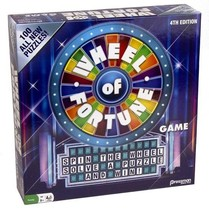 4th Edition Wheel of Fortune, Puzzle Board w/ Frame, Instruction Booklet... - $38.50