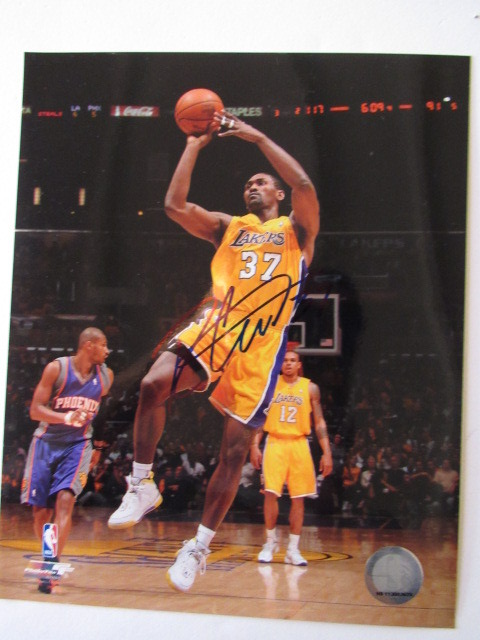 Derek Fisher Los Angeles Lakers signed- Photos 8867368d1