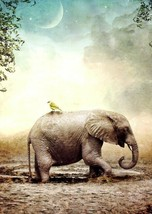Stuck In The Mud - Elephant - Tree Free Greeting Card - 14141 - $2.96