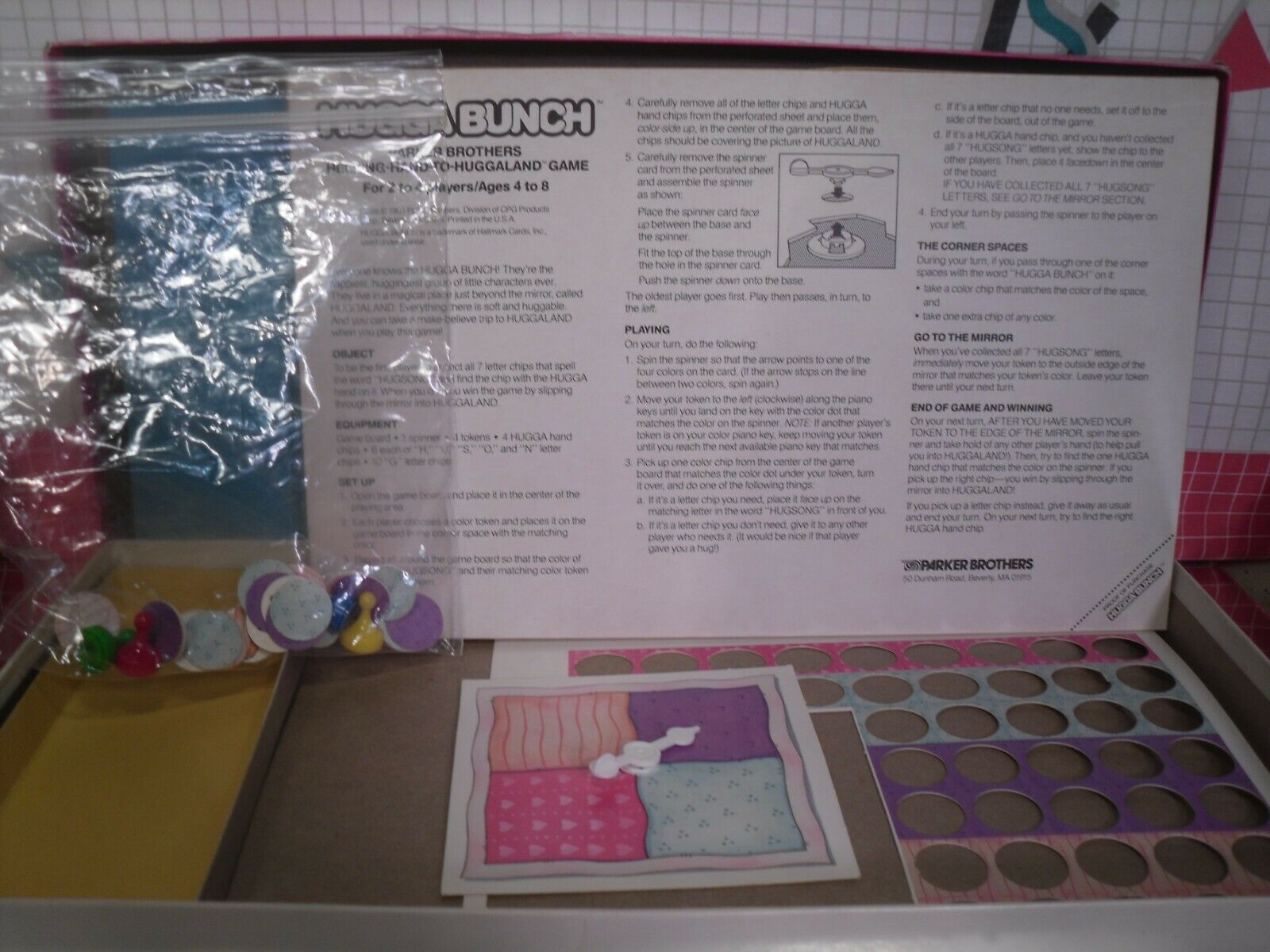 Hugga Bunch Board Game by Parker Brothers 1980s image 8