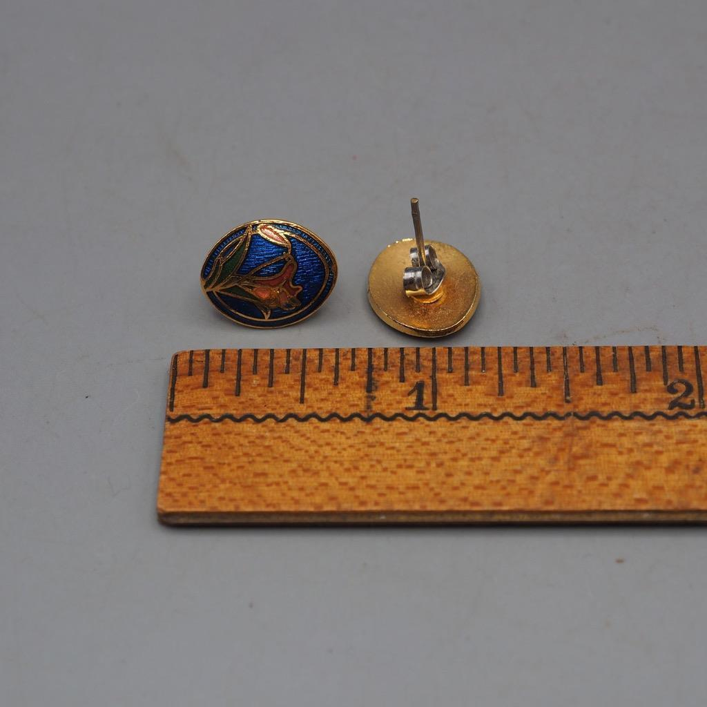 Vintage Cloissone Post Earrings