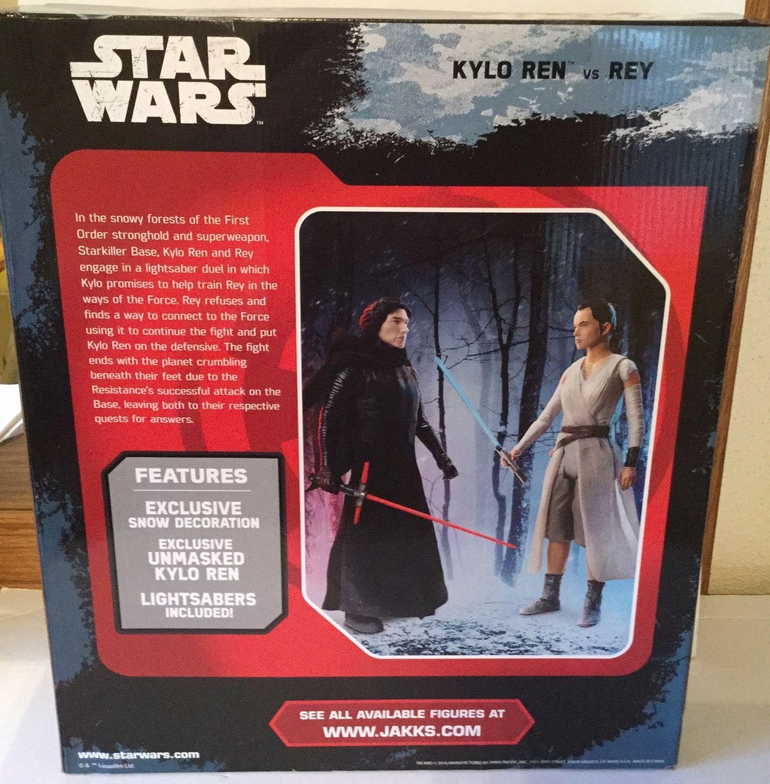 "Star Wars Big Figs KYLO REN vs REY - Starkiller Base Showdown 18"" Action Figures"