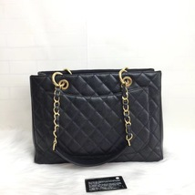BRAND NEW AUTH CHANEL QUILTED CAVIAR GST GRAND SHOPPING TOTE BAG image 2